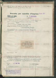 brevetto Olva 1936